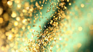 gold and teal glitter